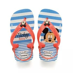 Mickey Mouse Blue Flip Flops for Baby by Havaianas
